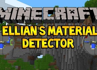 Ellian's Material Detector Mod for Minecraft