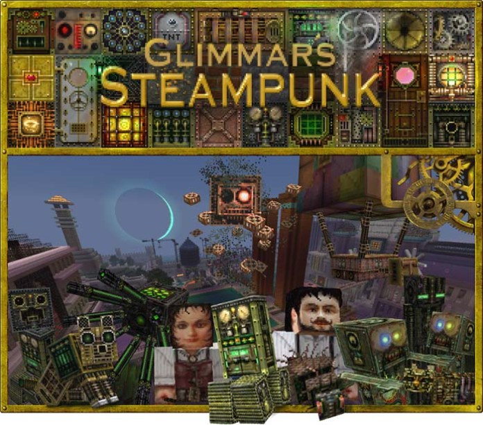 Glimmar's Steampunk Resource Pack for Minecraft