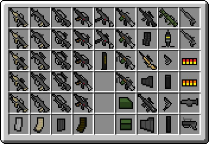 Flan's modern weapons pack mod 1. 8/1. 7. 10.
