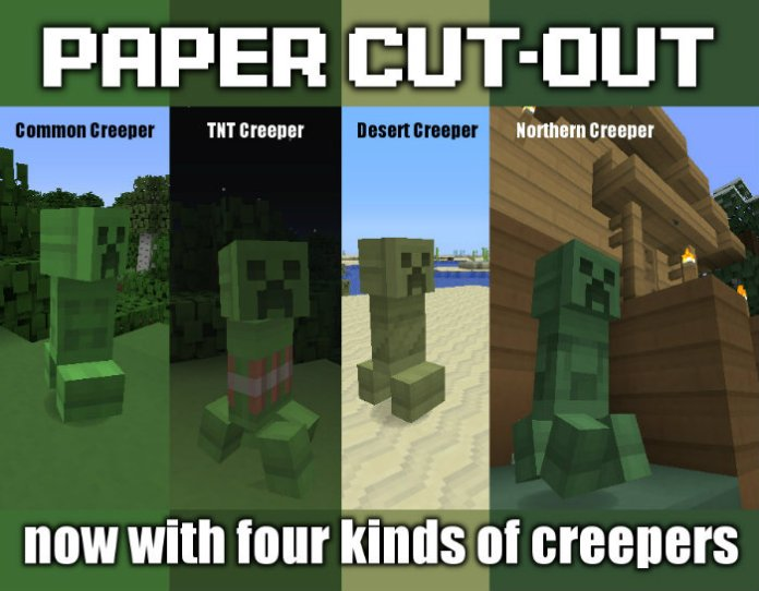 Paper Cut Out Resource Pack For Minecraft 1 11 1 10 2 Minecraftsix
