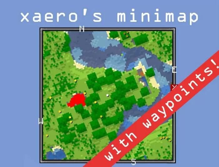 Xaeros Minimap Mod For Minecraft MinecraftSix - Mini map para minecraft 1 10 2