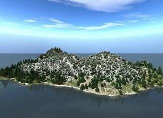 Alpine Island map