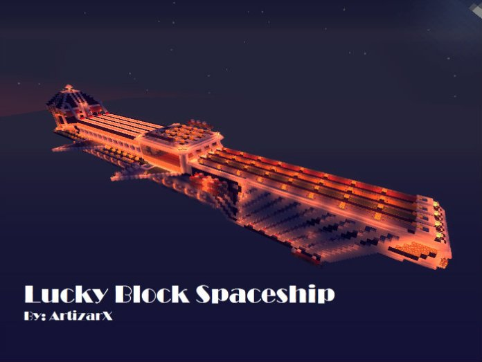 the-lucky-block-spaceship-map