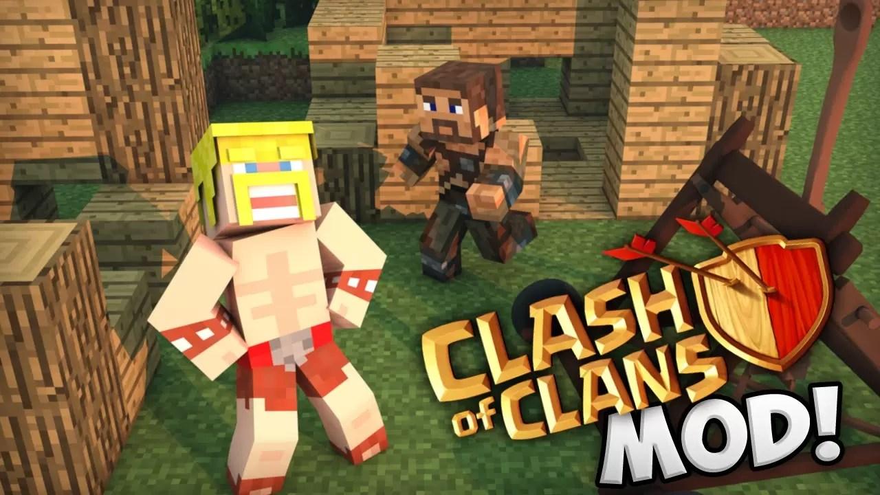 Скачать мод на Майнкрафт Clash Of Clans