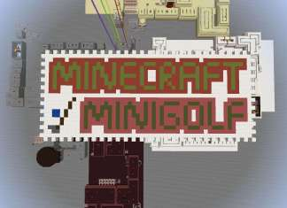 minecraft minigolf map