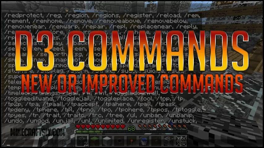 D Commands Mod For Minecraft MinecraftSix - Minecraft bukkit spieler entbannen