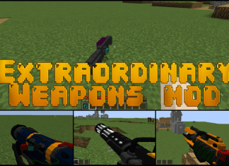 extraordinary weapons mod mc