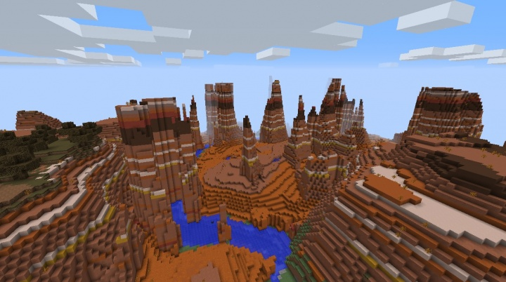 Minecraft Mesa Bryce Seed 1112 At Spawn Minecraft