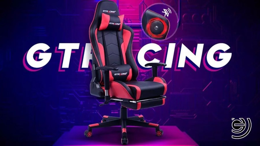 GTRACING CHAIR WITH BLUETOOTH SPEAKERS
