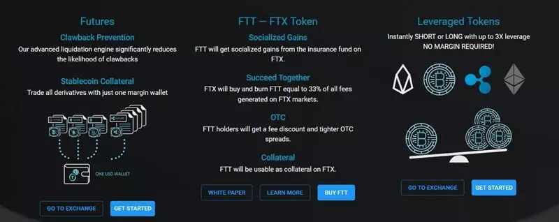 Features of FTX exchange