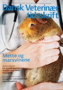 Forside på Dansk Veterinærtidsskrift 10 2018 med interview med Mette Lybeck Rueløkke