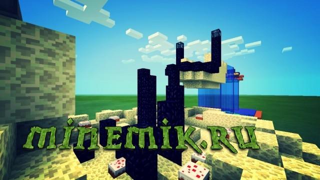 Красивый паркур для Minecraft PE