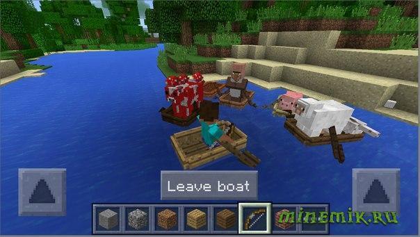 В Minecraft PE у лодок появятся весла!