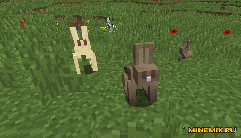 В Minecraft PE 0.13 могут добавить кроликов