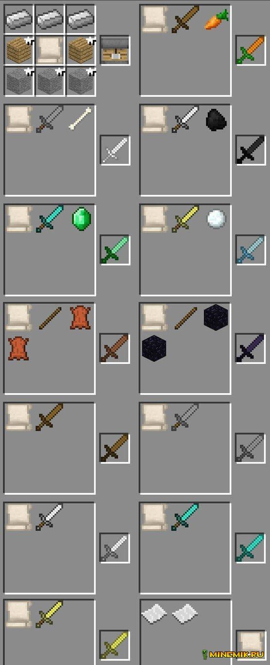 Custom weapons — мод на оружие minecraft PC 1.8
