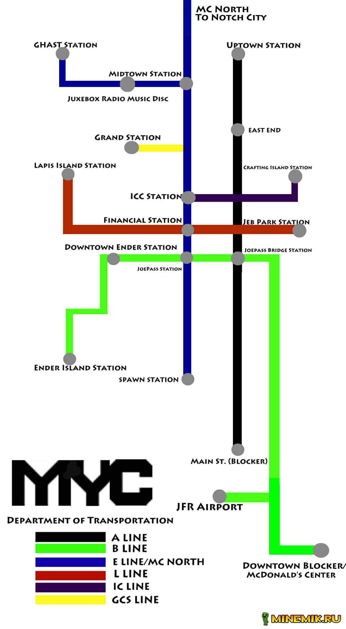 New York — карта для minecraft PE