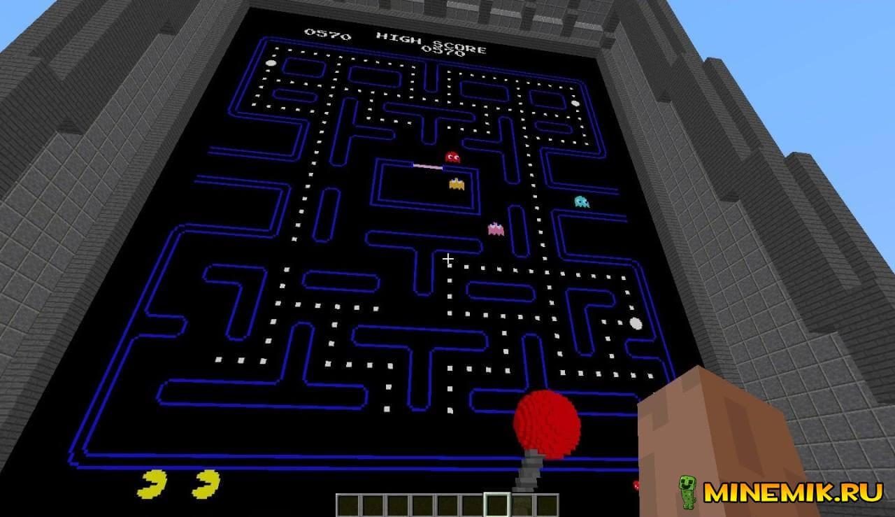 Pacman — карта на пэкмэна для майнкрафт PC 1.8