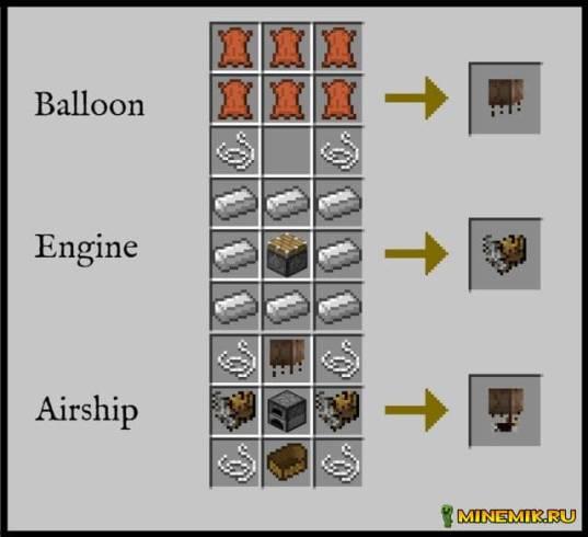 мод на воздушный шар для майнкрафт 1.5.2 - 1.7.10