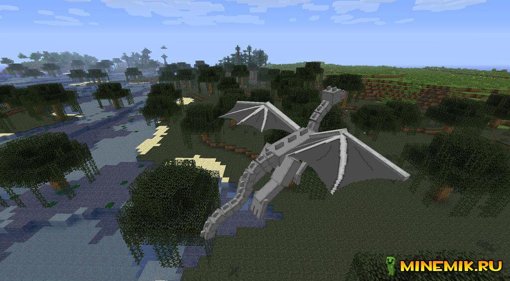 Мод Dragon Mount для minecraft PE