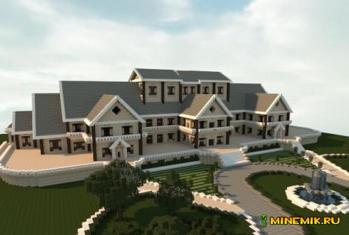 Карта Luxury Mansion для minecraft 1.8.9