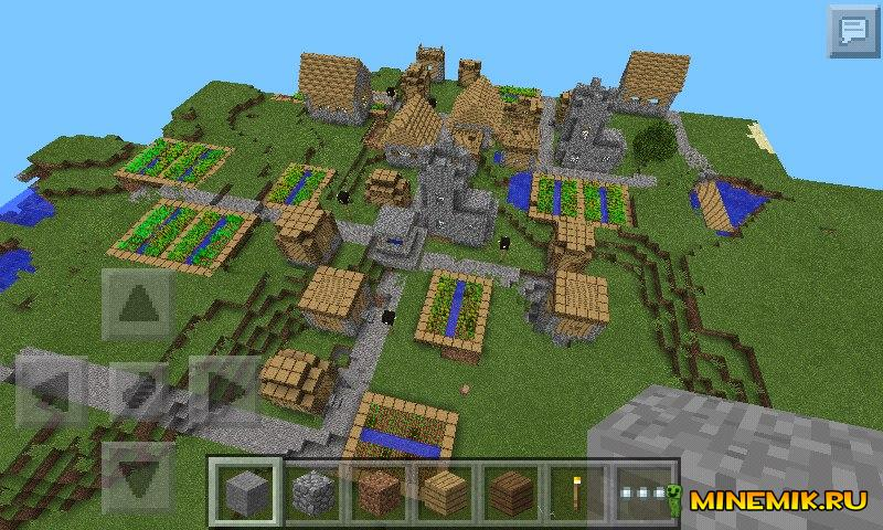Деревня в Minecraft Pocket Edition