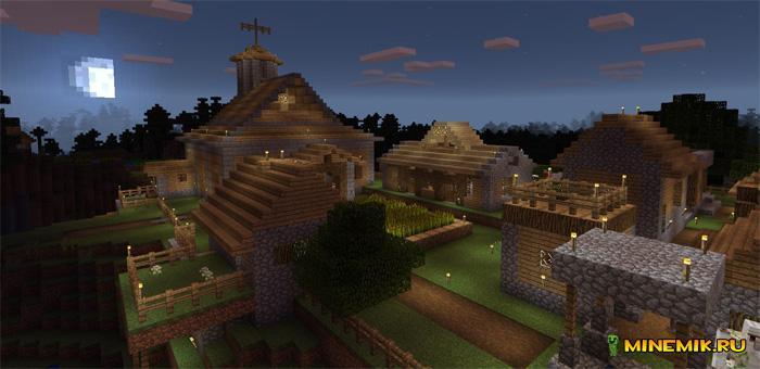 """Карта """"Мир выживания"""" для Minecraft PE"""