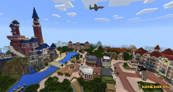 """Карта """"ДиснейЛенд"""" для Minecraft PE"""