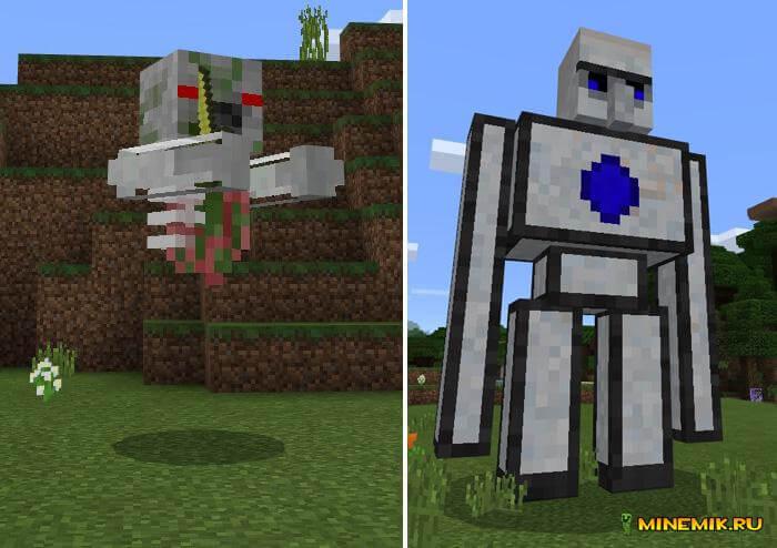 Аддон на опасных мобов для Minecraft PE