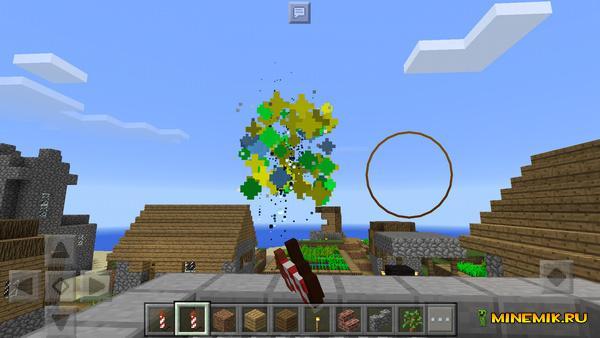 Аддон на фейерверк для Minecraft PE