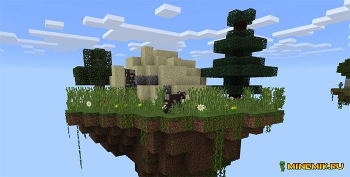 Карта сайблок на выживание для Minecraft PE