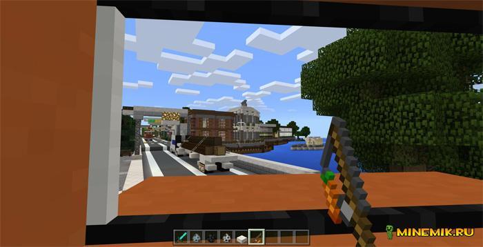 Аддон на грузовики для Minecraft PE