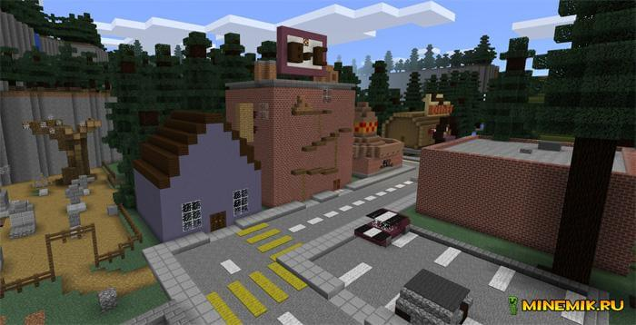 Карта Гравити Фолз для Minecraft PE