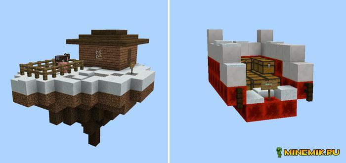Карта сайбокс рождественская для Minecraft PE
