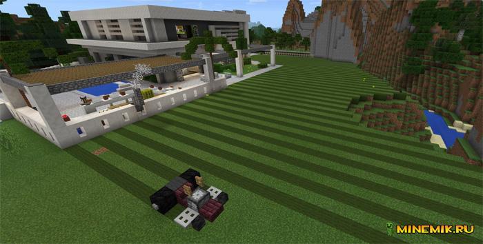 Карта современный особняк для Minecraft PE