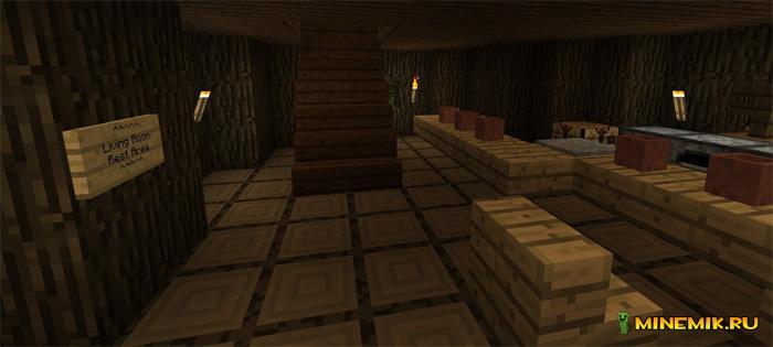 Кврта домик на дереве для Minecraft PE