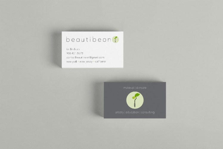 beautibean business card mockup 2