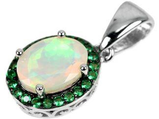 Pendentif opale rainbow naturelle