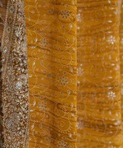 Golden_IndianSari-Curtain-Closeup
