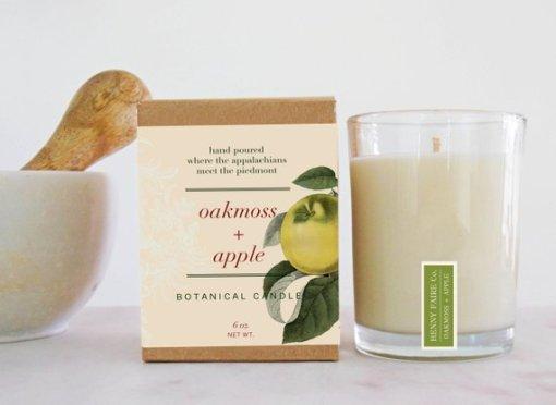 Oakmoss & Apple Botanical Candle