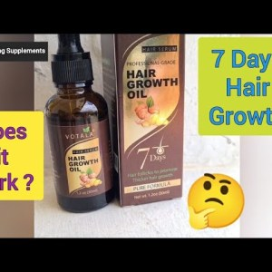 Votala Hair Growth Oil Serum - Does it really work?