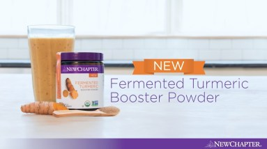 Turmeric Mango Smoothie with New Chapter® Fermented Turmeric Booster Powder