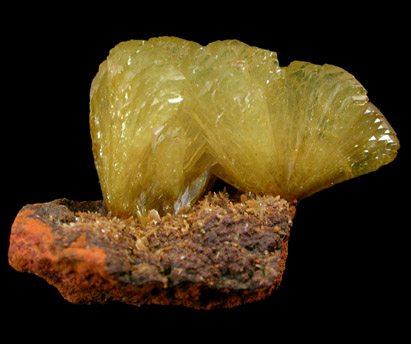 Fan-shaped Adamite Crystals