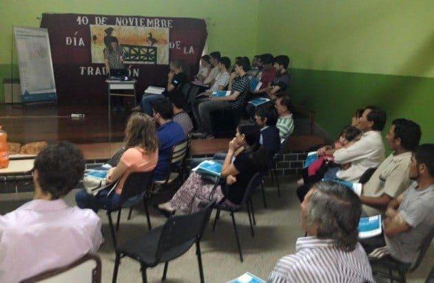 De la actividad participaron productores, artesanos, dueños de establecimientos mineros y alumnos de la UNSL.