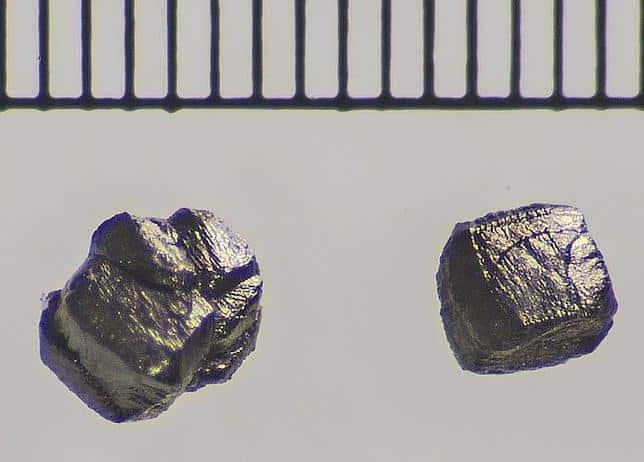 Granos de diamante del meteorito del Cañón del Diablo