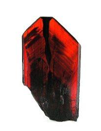 Cristal de Brookita alisado rojo