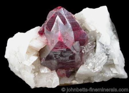 Gran cristal de cinabrio