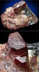 Cristales de Condrodita muy definidos