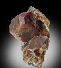 Gran complejo de Condrodita cristal