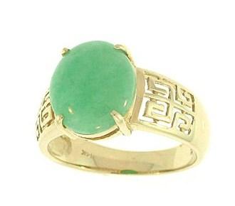 Anillo de oro jade