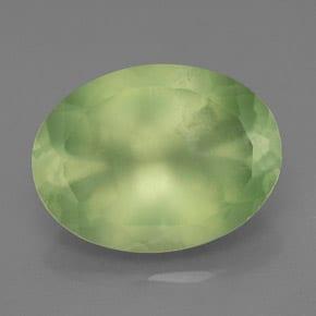 Prehnita verde zonificada por color